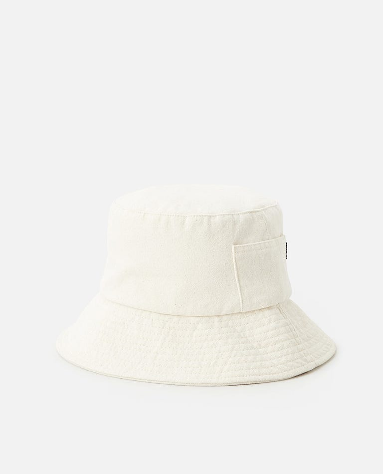 Washed Bucket Hat in Natural