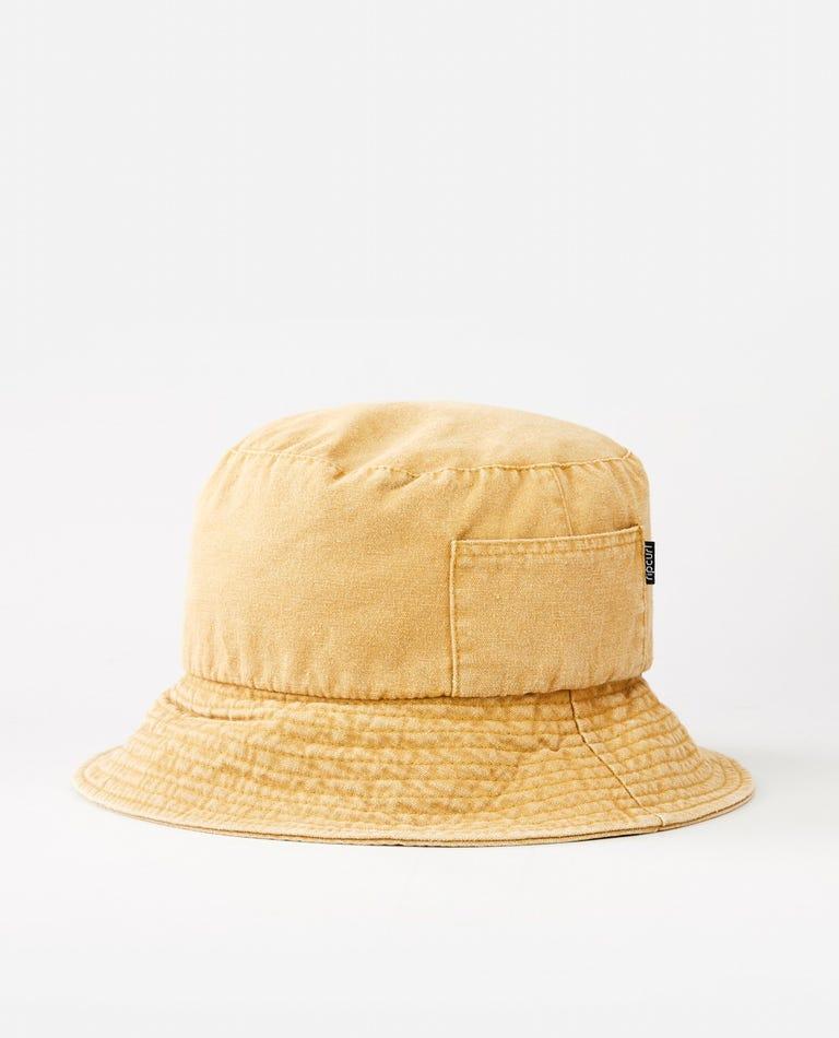 Washed Bucket Hat in Mustard