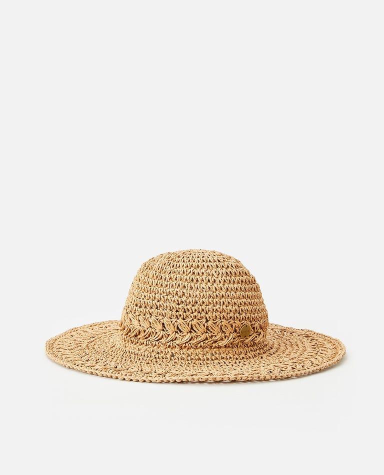 Sunset Short Brim Boho Hat in Tan