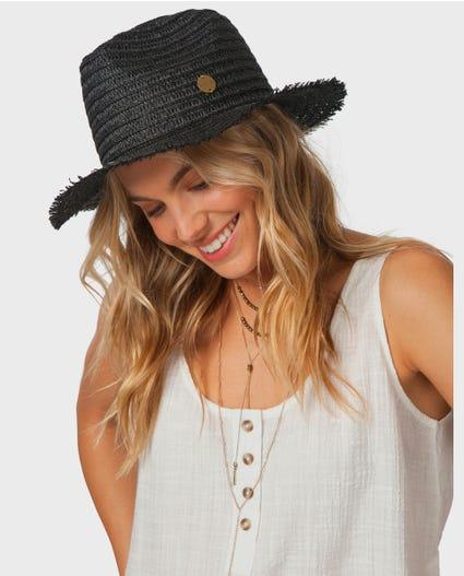 Hanalei Bay Panama Hat in Black