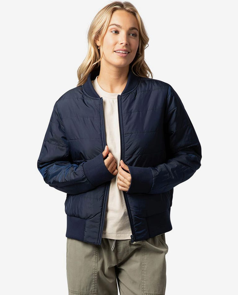 The Endeavour Reversible Bomber Jacket in Navy