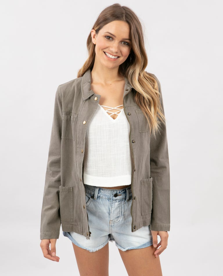 Easy Way Jacket in Vetiver