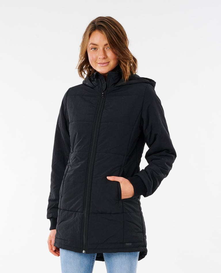 Southern Puffer Jacket in Black