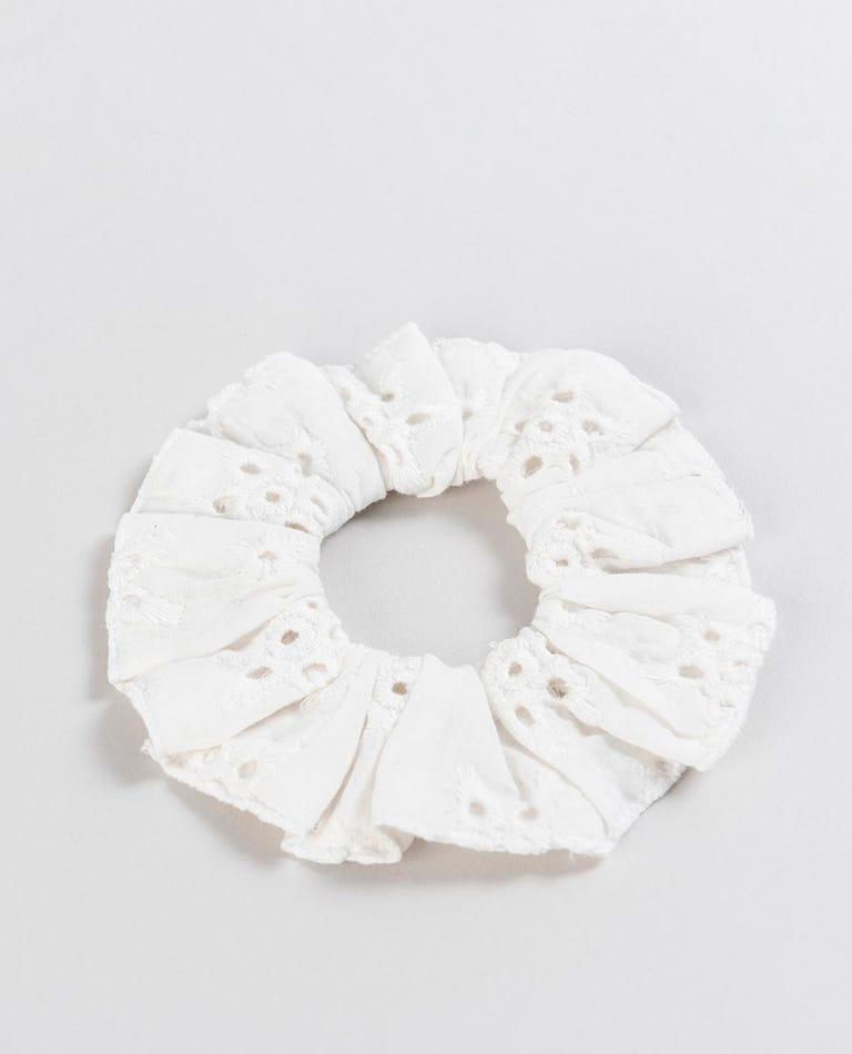 Shine Scrunchie in White
