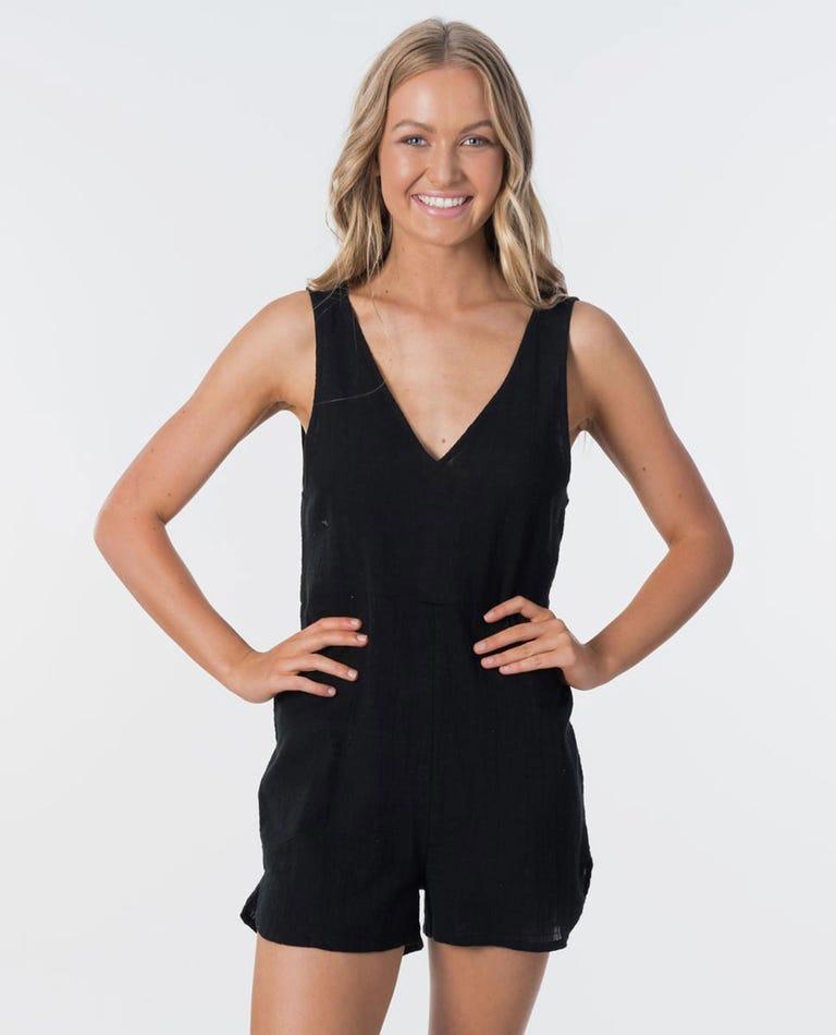 Holly Romper in Black
