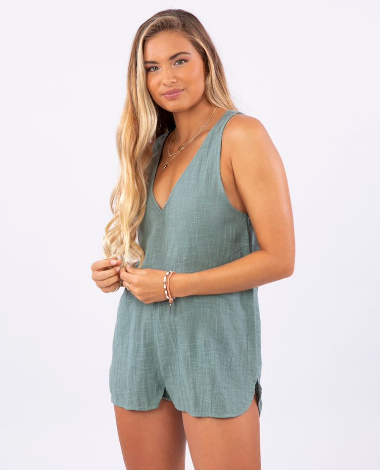 Holly Romper in Army