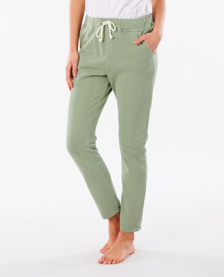 Organic Fleece Track Pant in Green