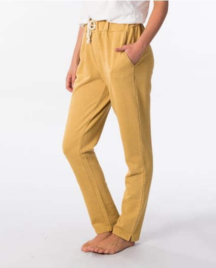 Organic Fleece Track Pant in Gold