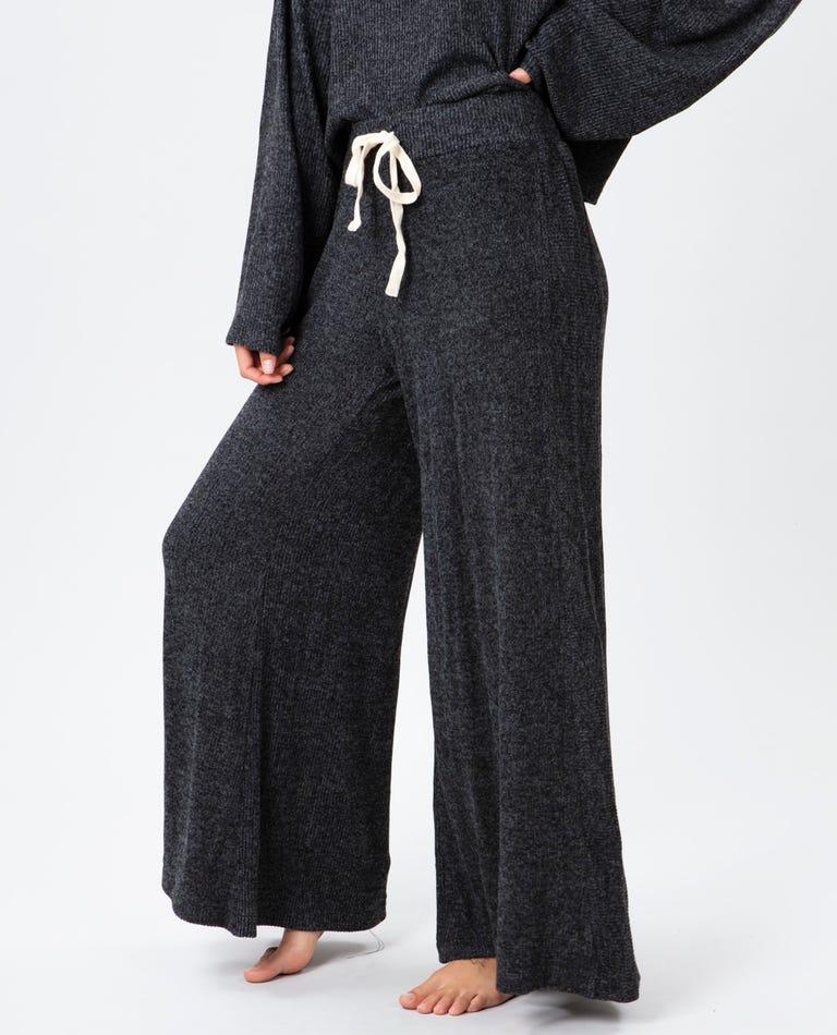 Cozy Wide Leg Pant in Black