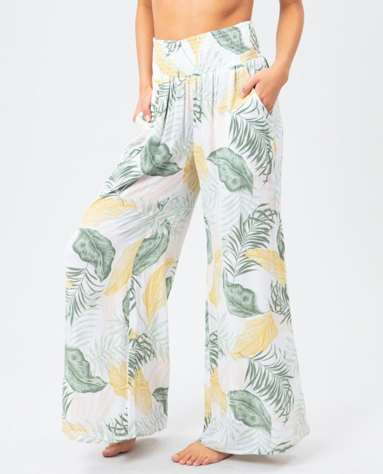 Coastal Palm Pant in White