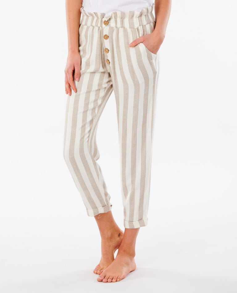 Ashore Stripe Pant in Taupe