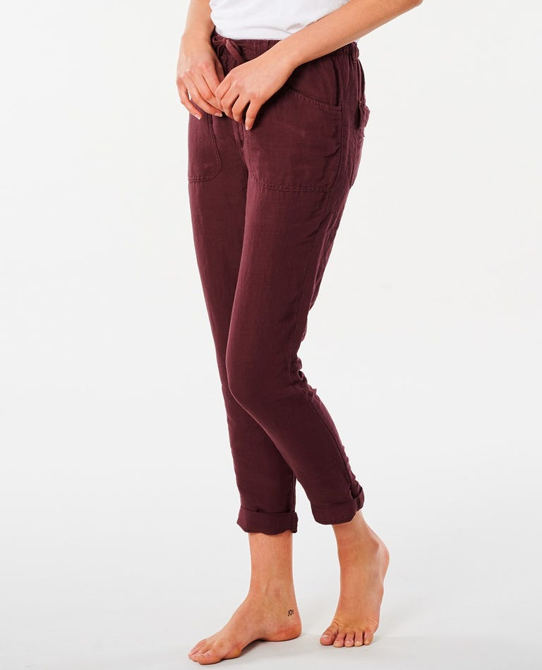 Panoma Pant in Maroon