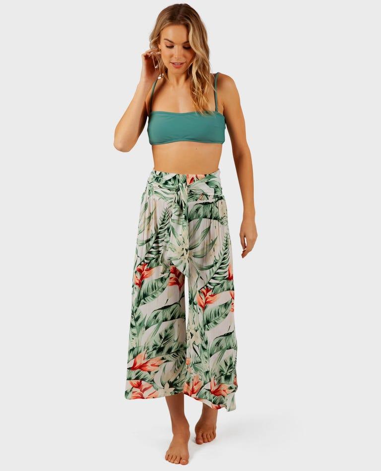 Tropic Heat Crop Pant in Green