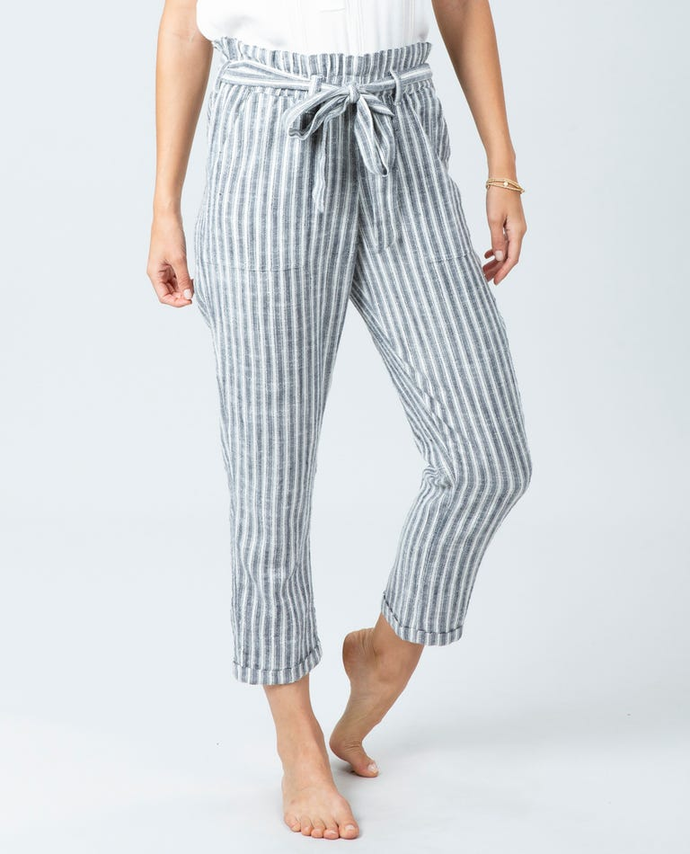 Lakeshore Stripe Pant in Black/White