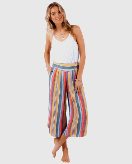 Wonderland Cropped Pant in Multico