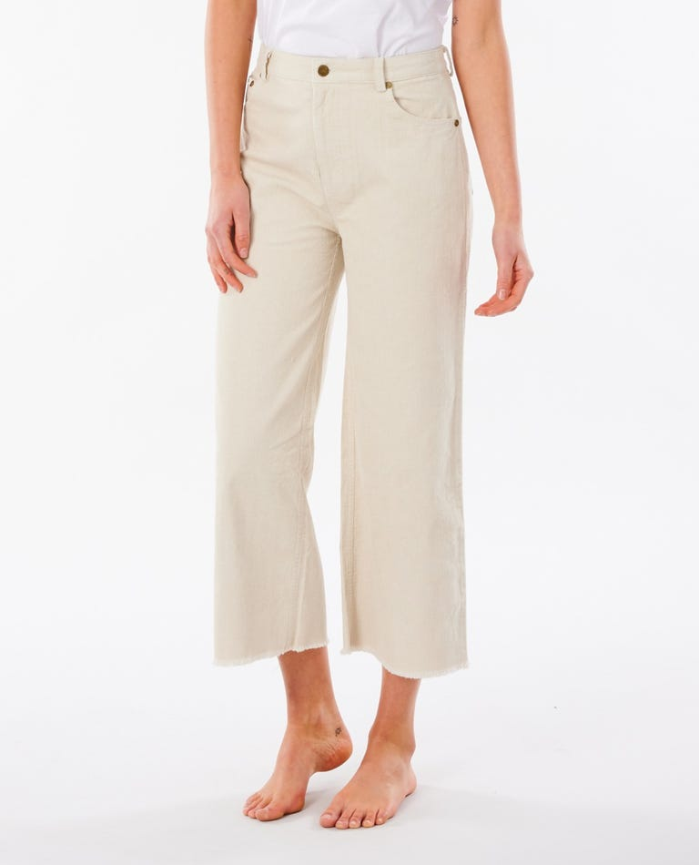 Turner Cord Wide Leg Pant in Off White