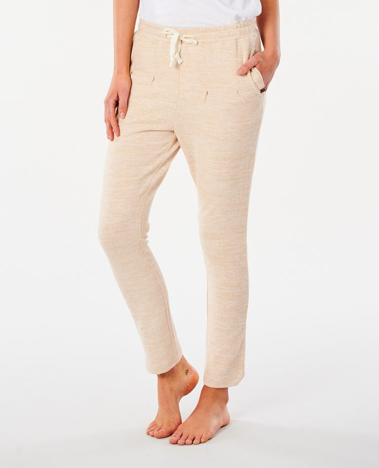 Cosy Cuffed Track Pant in Natural