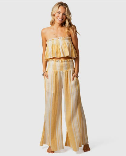 Seaside Stripe Pants in Gold