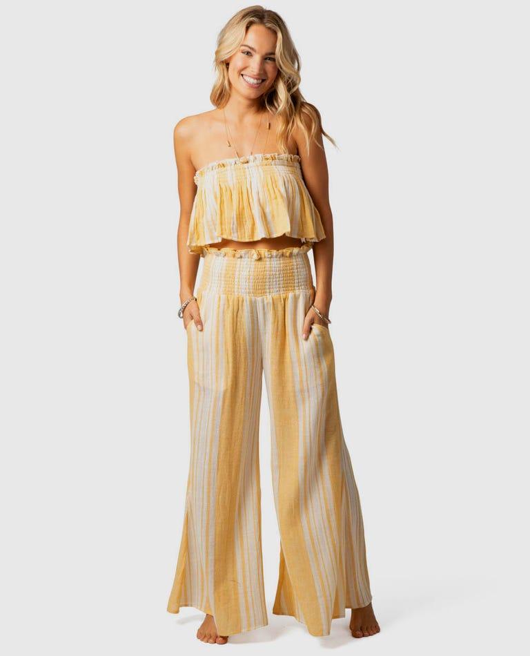 Seaside Stripe Pants in Gold