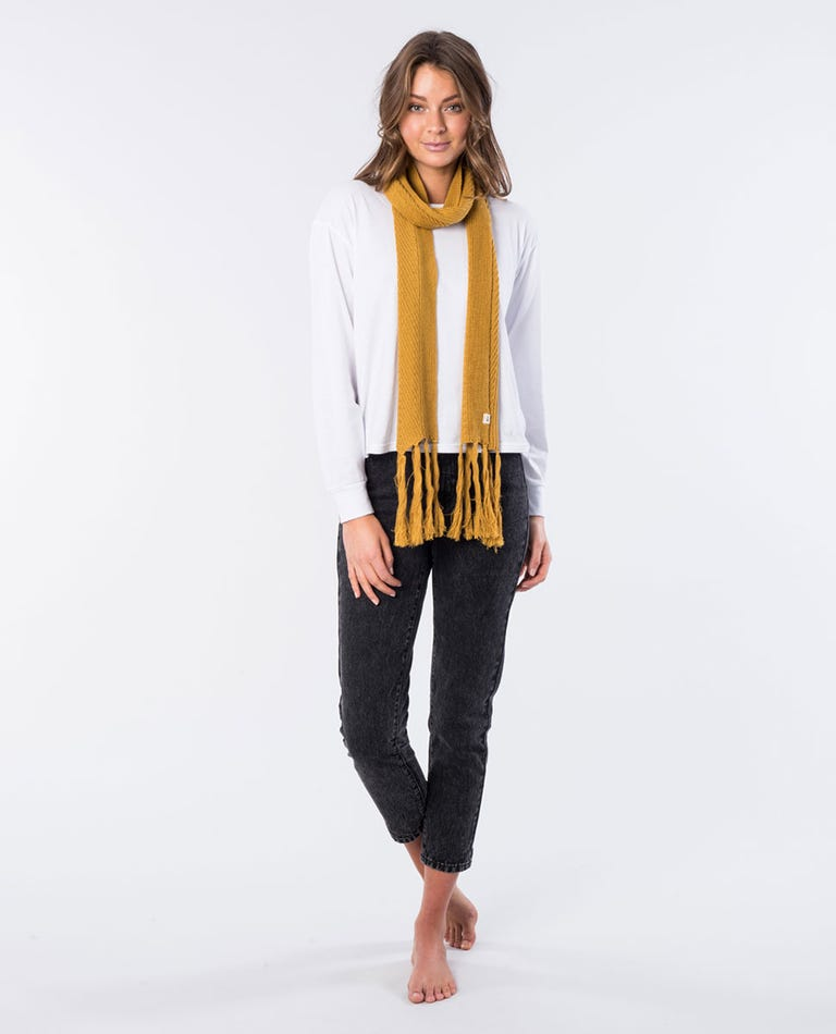 Coco Cotton Scarf in Mustard