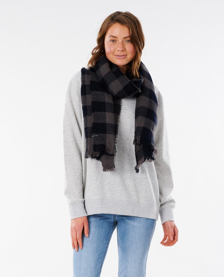 Bells Check Scarf in Black