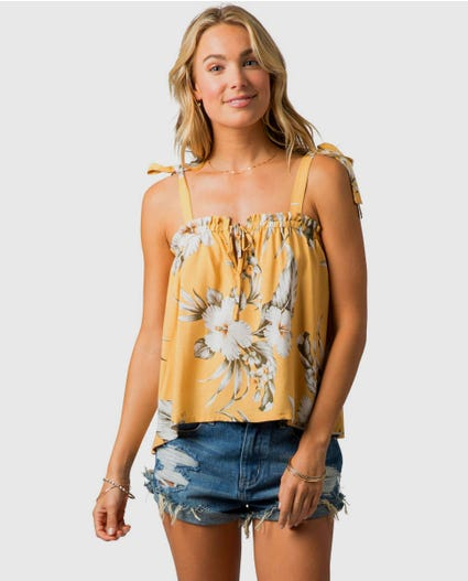 Island Time Cami in Mustard