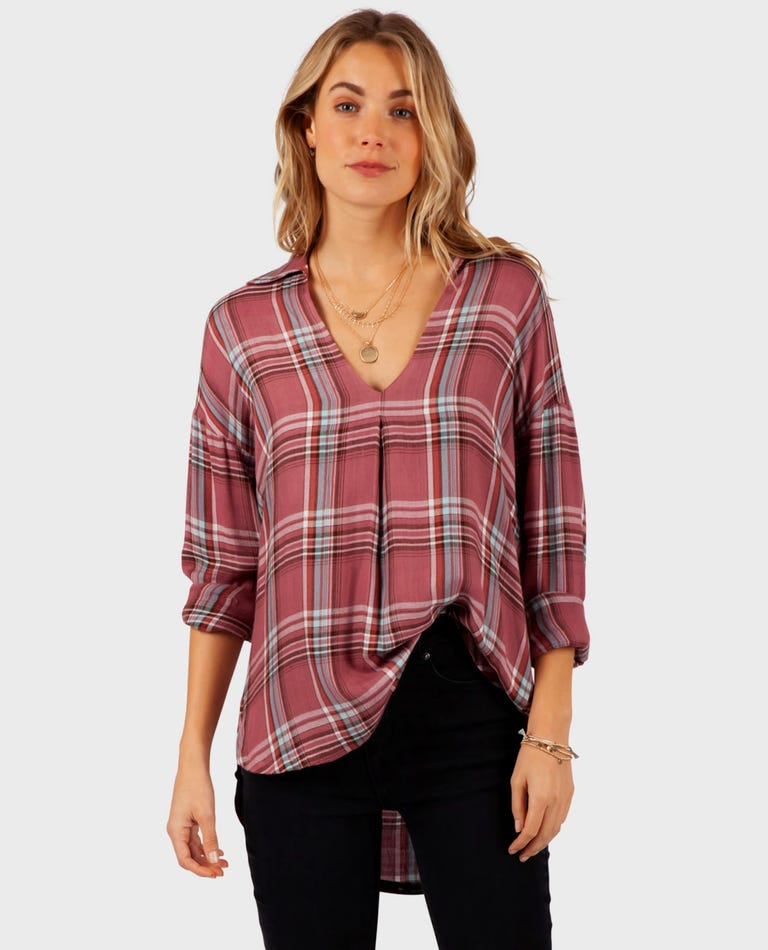 Into The Haze Shirt in Berry