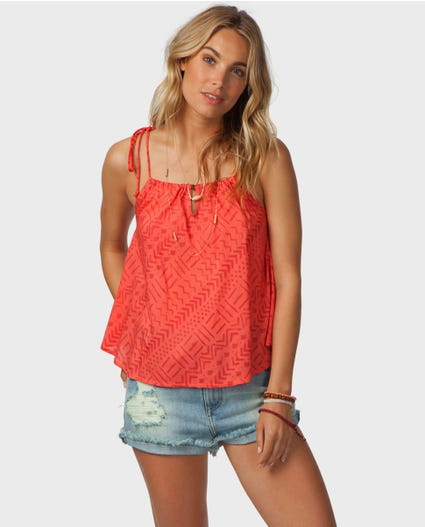 Cayman Cami Top in Coral