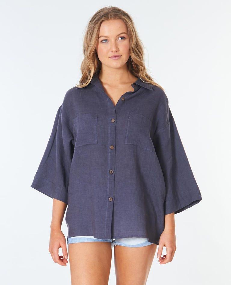 Search Linen Shirt in Indigo