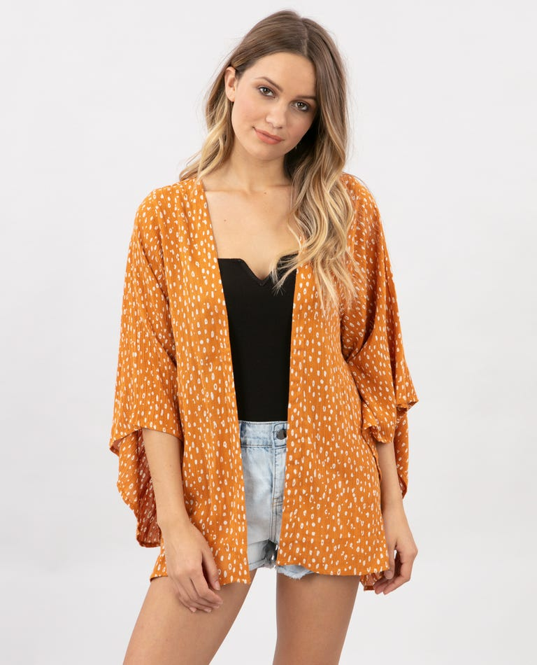 Safari Sun Kimono in Honey