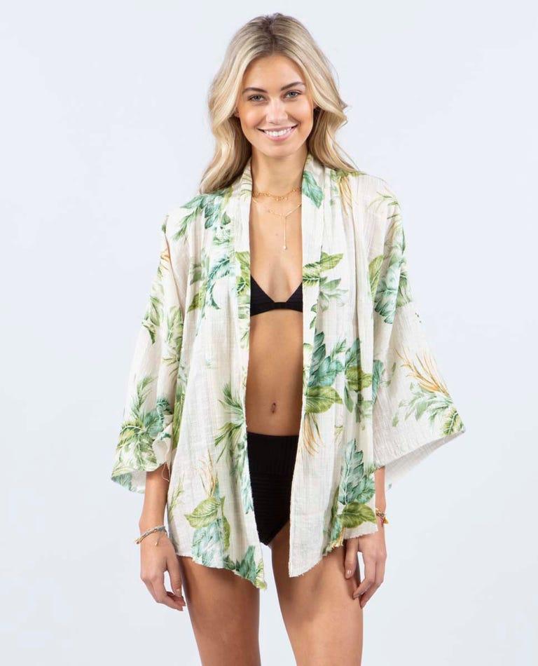 Palmetto Kimono in Off White