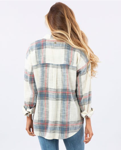 Wonder Love Plaid Shirt in Bone