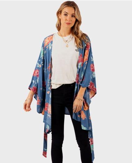 Moon Bay Kimono in Slate Blue