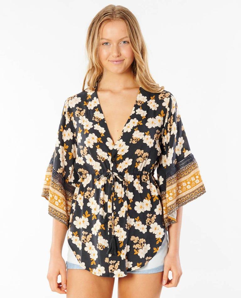 Marigold Kimono in Black