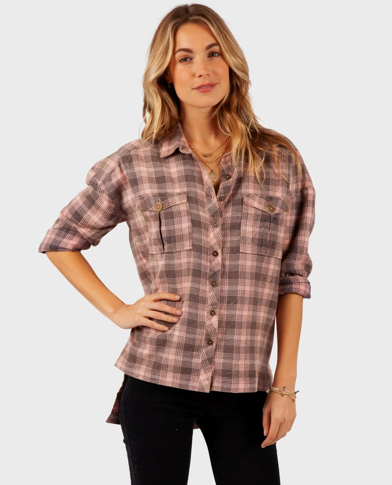 Road Tripper Flannel in Coral