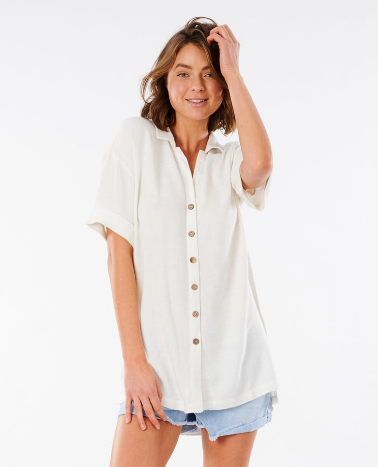 Ashore Stripe Shirt in Bone