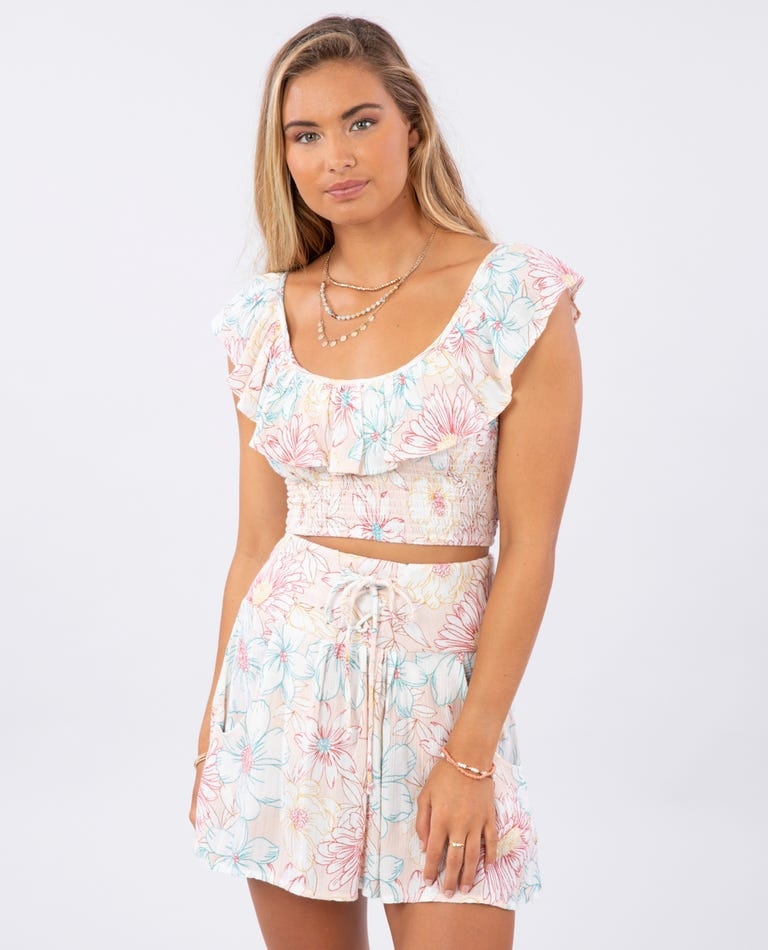 Fiesta Floral Top in Blush