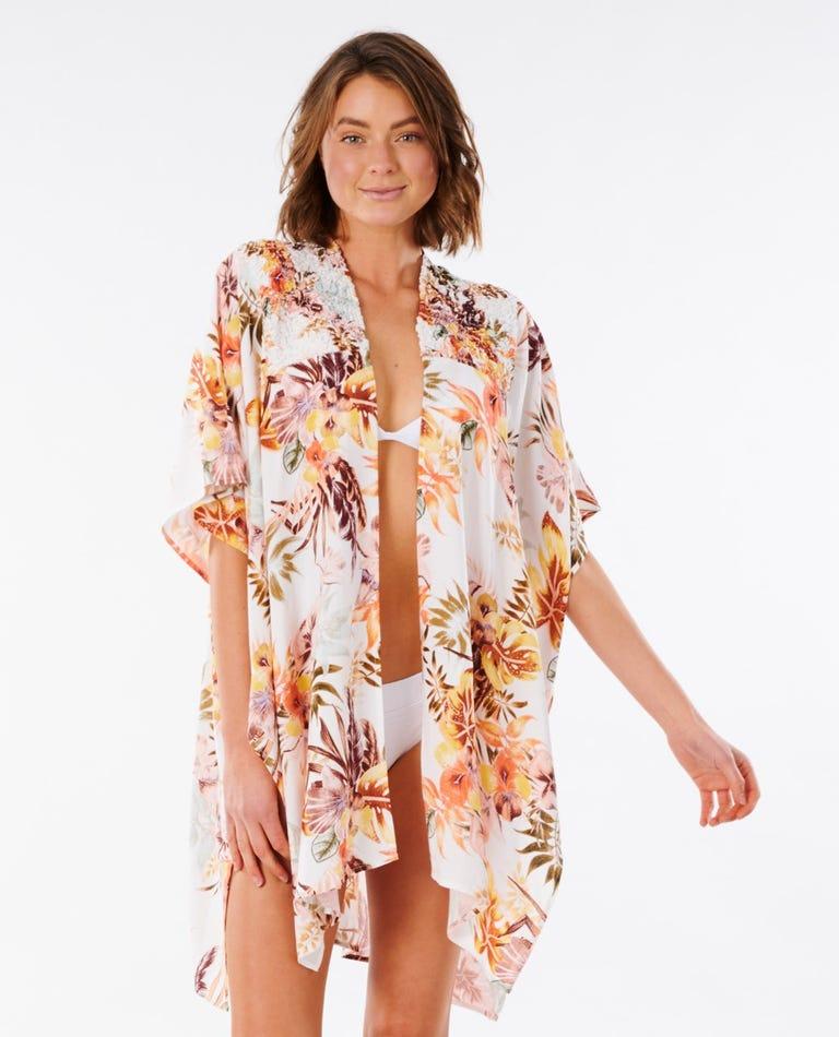 Tallows Kimono in White