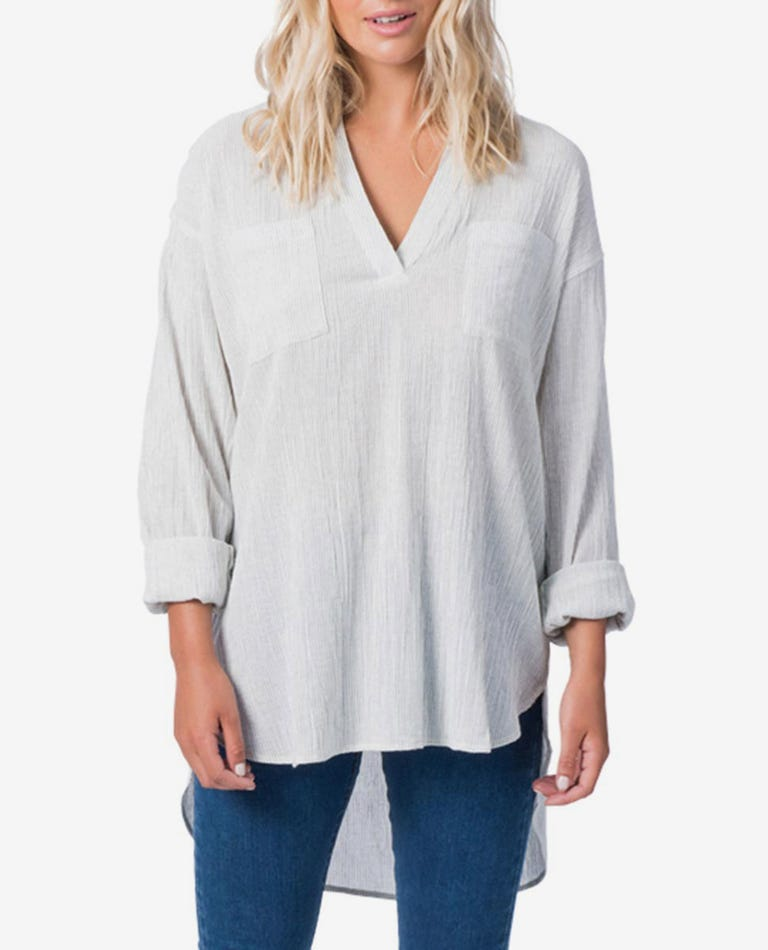 Koa Key Beach Shirt in Bone