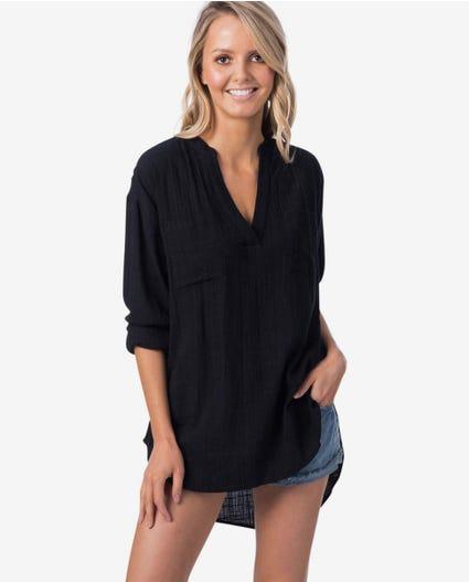 Koa II Beach Shirt in Black