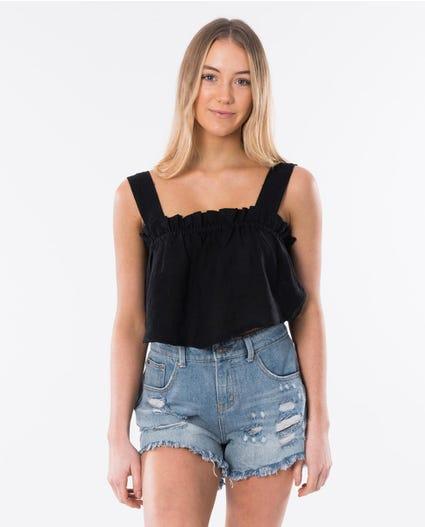 Beachcomba Linen Cami in Black