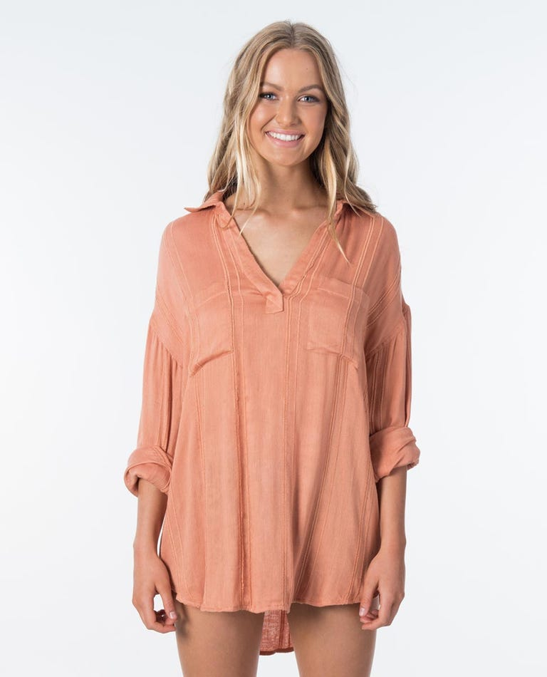 Sunrise Shirt in Peach