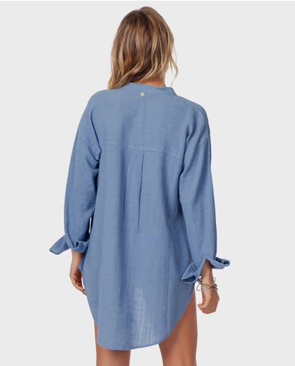 Koa Beach Shirt in Blue