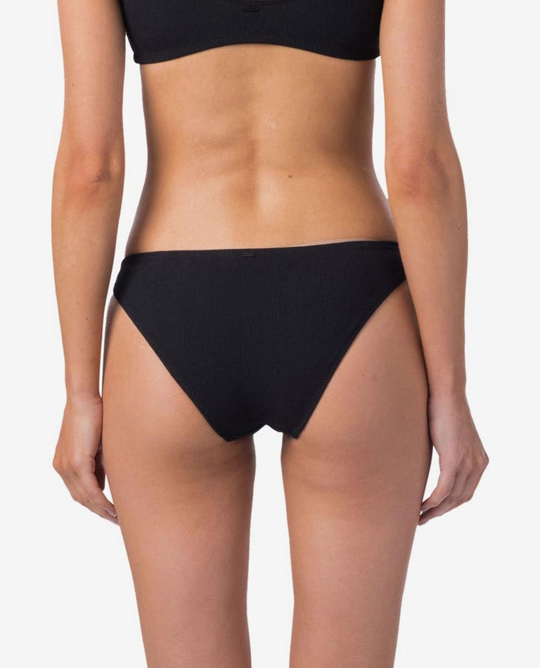 Premium Surf Cheeky Coverage Bikini Pant in Black