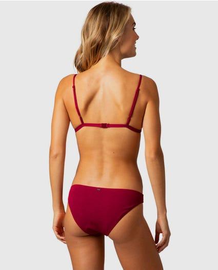 Premium Surf Good Coverage Bikini Bottom in Black