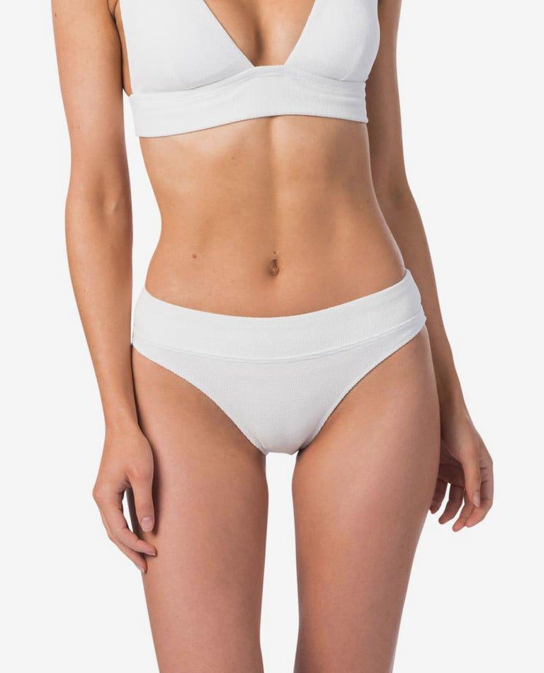 Premium Surf High Waist Bikini Bottom in White