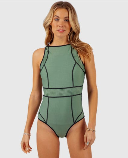 Mirage Impact Reversible One Piece in Black/Green