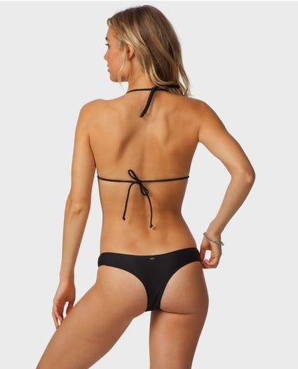 Classic Surf Moulded Tri Top Bikini in Black