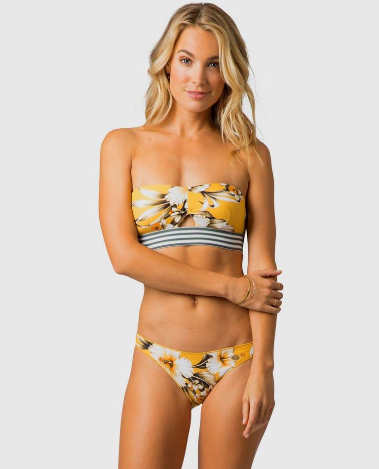 Island Time Bandeau Bikini Top in Mustard