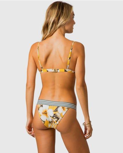 Island Time Fixed Tri Bikini Top in Mustard